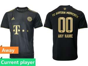 Mens 21-22 Soccer Bayern Munchen Current Player Black Away Thailand Short Sleeve Jersey