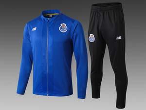 Mens 19-20 Soccer Fc Porto Club Wind Coat And Black Sweat Pants Training Suit 2 Color