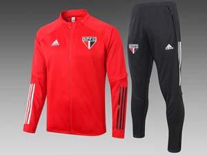 Mens 20-21 Soccer Sao Paulo Long Zipper Training And Black Sweat Pants Training Suit 2 Color