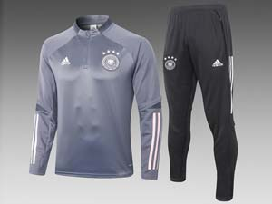Mens 20-21 Soccer Germany Ntaional Team Half Zipper Training And Black Sweat Pants Training Suit 2 Color