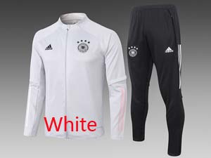 Mens 20-21 Soccer Germany Ntaional Team Long Zipper Training And Black Sweat Pants Training Suit 2 Color