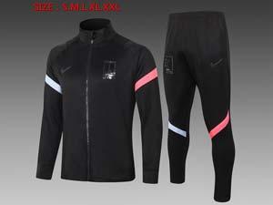 Mens 20-21 Soccer Korea National Team Black Jacket And Black Sweat Pants Training Suit