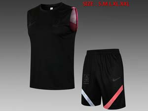 Mens 21-22 Soccer Korea National Team Black Vest Suit D568#