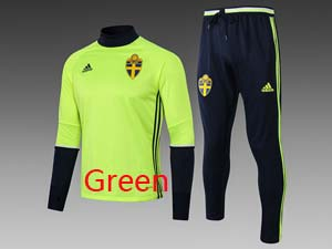 Mens Soccer Sweden National Team High Collar Training And Navy Sweat Pants Training Suit 2 Color