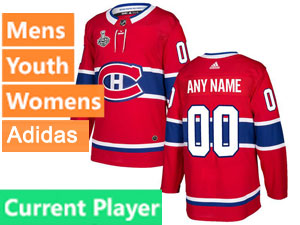 Mens Women Youth Adidas Montreal Canadiens Red Home Current Player 2021 Stanley Cup Final Bound Jersey