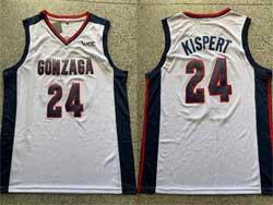 Mens Ncaa Nba Gonzaga Bulldogs #24 Kispert White Jersey