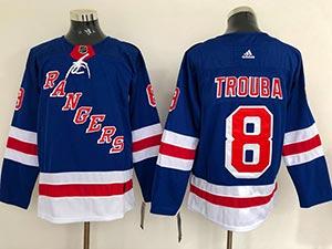 Mens Nhl New York Rangers #8 Jacob Trouba Blue Home Premier Adidas Jersey