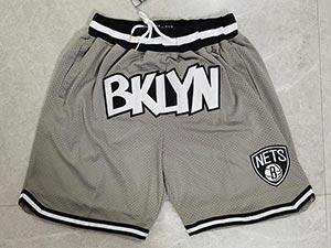 Mens Nba Brooklyn Nets Gray Just Don Pocket Shorts