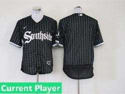 Mens Mlb Chicago White Sox Current Player Black Stripe City Connect Wordmark Flex Base Nike Jersey