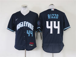 Mens Mlb Chicago Cubs #44 Anthony Rizzo Dark Blue Wrigleyville Flex Base Nike Jersey