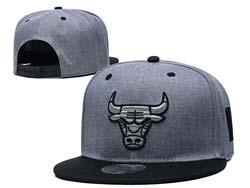 Mens Nba Chicago Bulls Gray Falt Snapback Adjustable Hats 5 Color