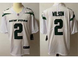 Mens Nfl New York Jets #2 Zach Wilson White Vapor Untouchable Limited Nike Jersey