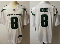 Mens Nfl New York Jets #8 Elijah Moore White Vapor Untouchable Limited Nike Jersey