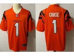 Mens Nfl Cincinnati Bengals #1 Ja'marr Chase Orange Vapor Untouchable Limited Nike Jersey