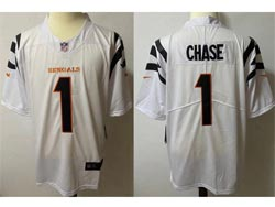 Mens Nfl Cincinnati Bengals #1 Ja'marr Chase White Vapor Untouchable Limited Nike Jersey