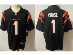 Mens Nfl Cincinnati Bengals #1 Ja'marr Chase Black Vapor Untouchable Limited Nike Jersey
