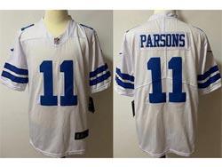Mens Nfl Dallas Cowboys #11 Micah Parsons White Vapor Untouchable Limited Nike Jersey