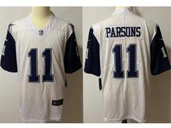 Mens Nfl Dallas Cowboys #11 Micah Parsons White Color Rush Vapor Untouchable Limited Nike Jersey
