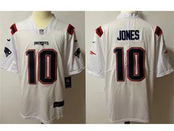 Mens Nfl New England Patriots #10 Jones White Vapor Untouchable Limited Nike Jersey