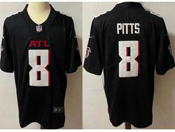 Mens Nfl Atlanta Falcons #8 Kyle Pitts Black Vapor Untouchable Limited Nike Jersey