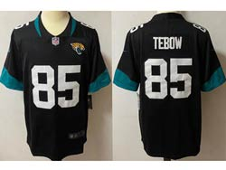 Mens Nfl Jacksonville Jaguars #85 Tim Tebow Black Vapor Untouchable Limited Nike Jersey