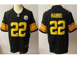 Mens Nfl Pittsburgh Steelers #22 Pittsburgh Steelers Black Yellow Number Vapor Untouchable Limited Nike Jersey