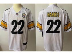 Mens Nfl Pittsburgh Steelers #22 Pittsburgh Steelers White Vapor Untouchable Limited Nike Jersey