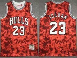 Mens Nba Chicago Bulls #23 Michael Jordan Red Constellation Hardwood Classics Swingman Jersey