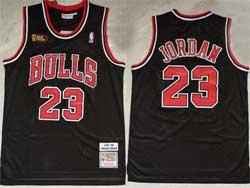 Mens Nba Chicago Bulls #23 Michael Jordan Black 1997-98 Final Patch Hardwood Classics Swingman Jersey