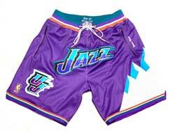 Mens Nba Utah Jazz Purple 96-97 M&n Throwback Just Don Pocket Shorts