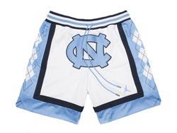 Mens Ncaa Nba North Carolina White Just Don Pocket Shorts