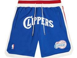 Mens Nba Los Angeles Clippers Blue 1984-85 Hardwood Classics Just Don Pocket Shorts