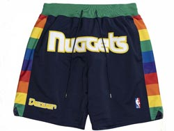Mens Nba Denver Nuggets Black 1982-83 Hardwood Classics Just Don Pocket Shorts