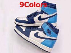 Mens And Women Nike Air Jordan 1 Retro High Og Basketball Shoes 9 Colors