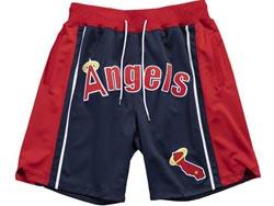 Mens Mlb Los Angeles Angels Blue All Star Just Don Pocket Shorts