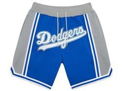 Mens Mlb Los Angeles Dodgers Blue Just Don All Star Pocket Shorts