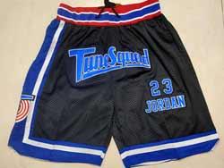 Mens Nba Movie Space Jam #23 Michael Jordan Tune Squad Black Just Don Pocket Shorts