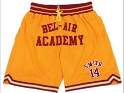 Mens Nba Movie Space Jam #14 Will Smith Bel Air Academy Just Don Pocket Shorts