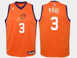 Mens Nba Phoenix Suns #3 Chris Paul Orange Jordan Swingman Jersey