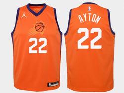 Mens Nba Phoenix Suns #22 Deandre Ayton Orange Jordan Swingman Jersey