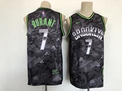 Mens New Nba Brooklyn Nets #7 Kevin Durant Black Mvp Swingman Nike Jersey