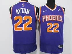 Mens Nba Phoenix Suns #22 Deandre Ayton Purple With New Patch Swingman Nike Jersey
