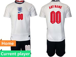 Mens Soccer England National Team Current Player White 2021 European Cup Home Short Sleeve Jersey