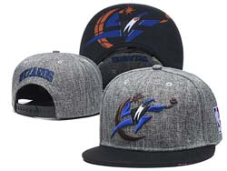 Mens Nba Washington Wizards Grey Snapback Adjustable Flat Hats