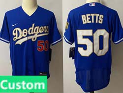 Mens Mlb Los Angeles Dodgers Custom Made Blue 2021 Champions Flex Base Nike Jersey