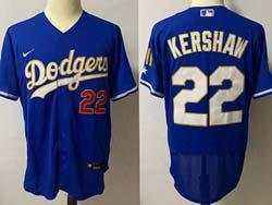 Mens Mlb Los Angeles Dodgers #22 Clayton Kershaw Blue 2021 Champions Flex Base Nike Jersey