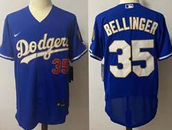 Mens Mlb Los Angeles Dodgers #35 Cody Bellinger Blue 2021 Champions Flex Base Nike Jersey