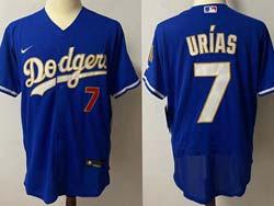 Mens Mlb Los Angeles Dodgers #7 Julio Urias Blue 2021 Champions Flex Base Nike Jersey