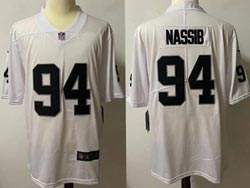 Mens Nfl Las Vegas Raiders #94 Carl Nassib White Vapor Untouchable Limited Nike Jersey