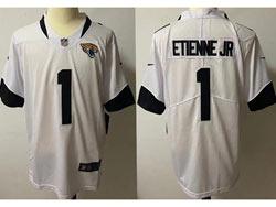 Mens Nfl Jacksonville Jaguars #1 Travis Etienne Jr White Vapor Untouchable Limited Nike Jersey